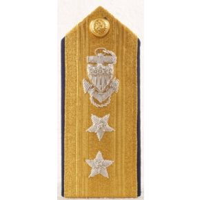 Hard Shoulder Board 2 Star Admiral